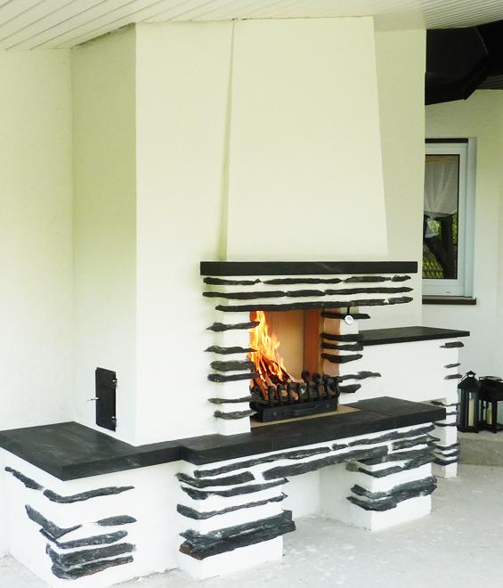 Ofenbau Schlenkrich Aussenkamin